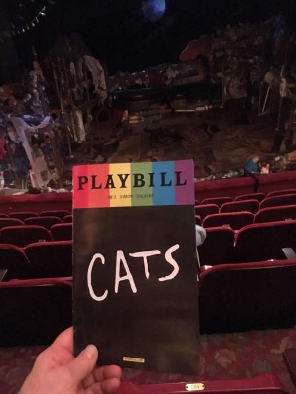 Neil Simon Theatre, section: Front Mezzanine C, row: G, seat: 105