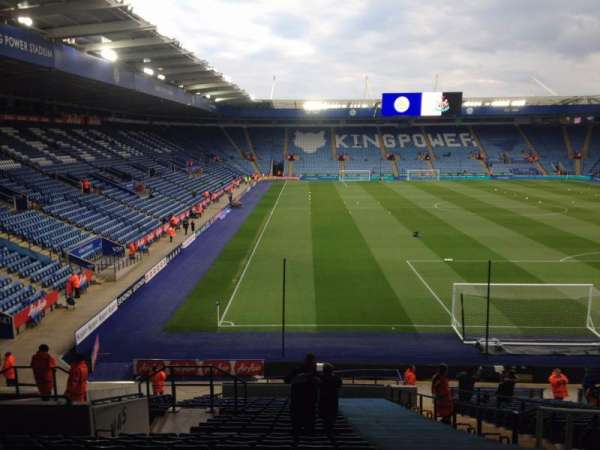 King Power Stadium, section: Away stand, row: DD, seat: 28