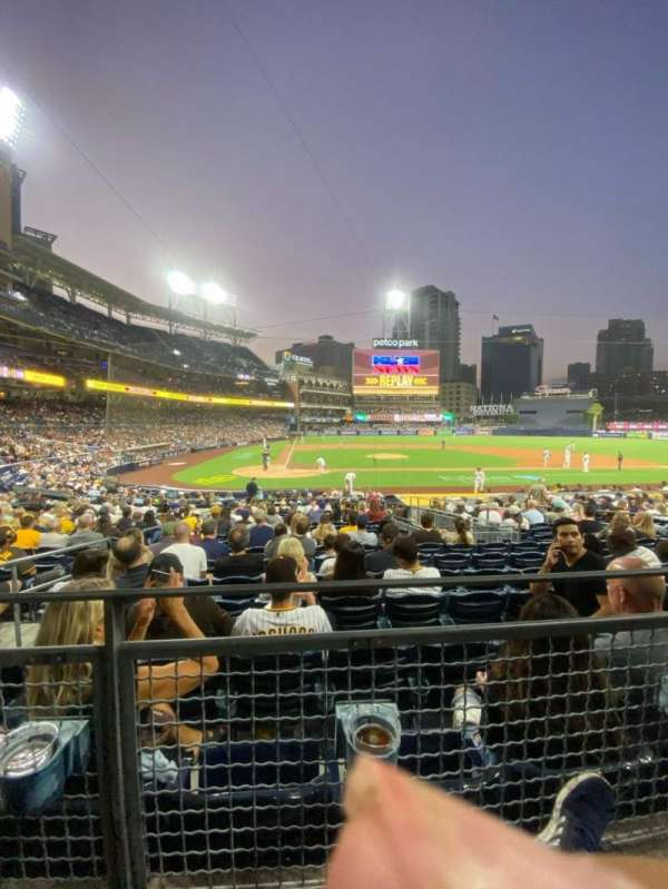 PETCO Park, section: 105, row: 22D, seat: 3