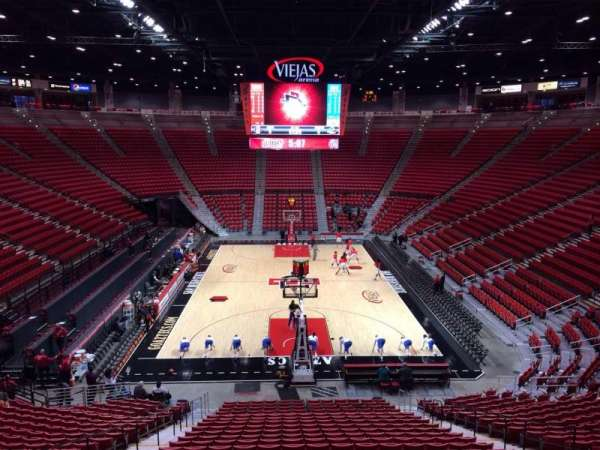 Viejas Arena, section: A, row: 25, seat: 9