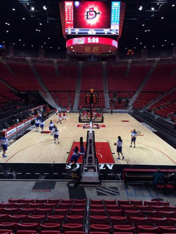 Viejas Arena, section: A, row: 10, seat: 8