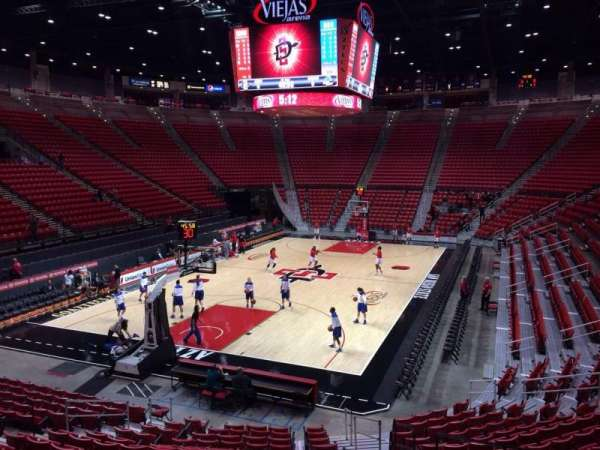 Viejas Arena, section: B, row: 16, seat: 5