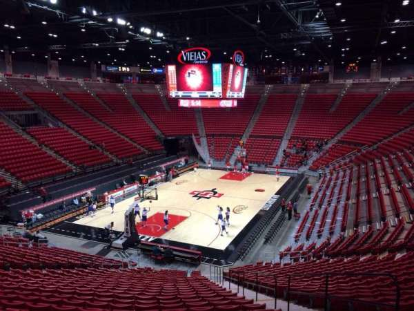 Viejas Arena, section: A, row: 26, seat: 4