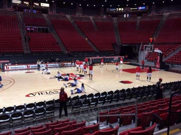 Viejas Arena, section: E, row: 8, seat: 5