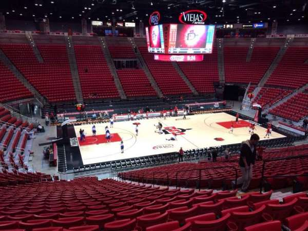Viejas Arena, section: D, row: 28, seat: 7