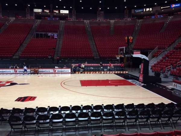Viejas Arena, section: G, row: 6, seat: 9