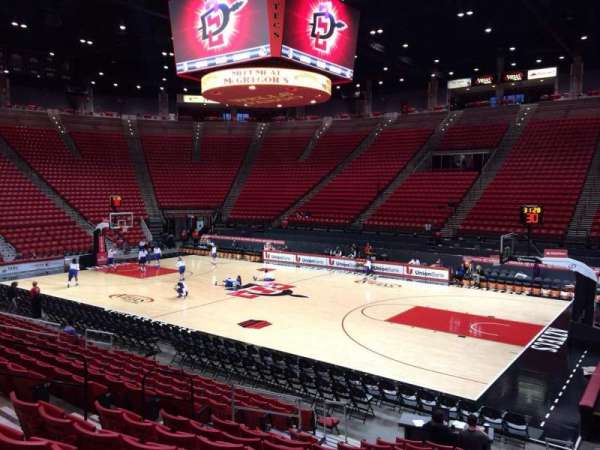Viejas Arena, section: H, row: 13, seat: 7