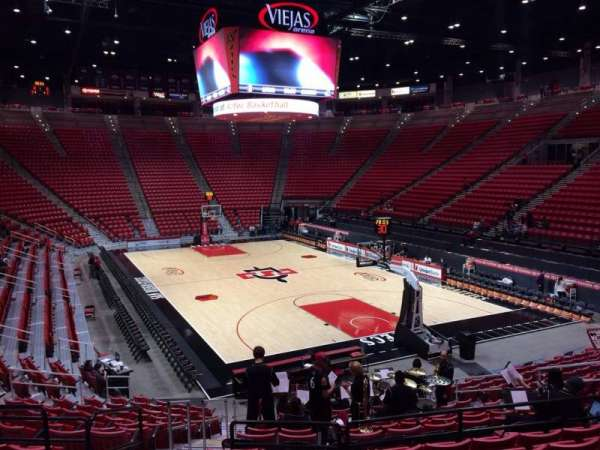 Viejas Arena, section: K, row: 17, seat: 19