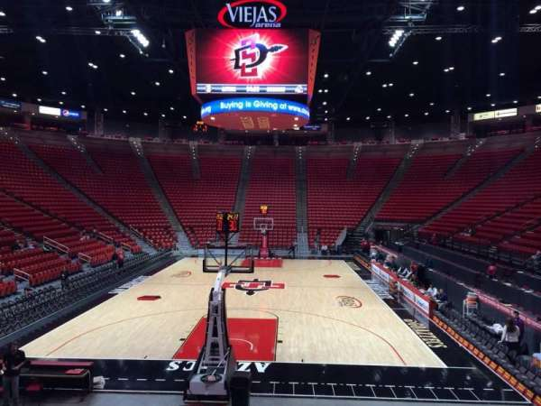 Viejas Arena, section: L, row: 12, seat: 3