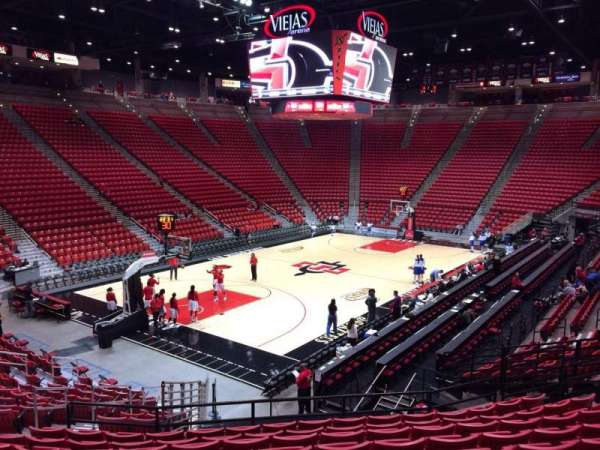 Viejas Arena, section: N, row: 19, seat: 14