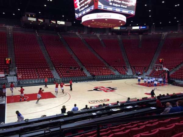Viejas Arena, section: P, row: 12, seat: 1