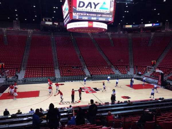 Viejas Arena, section: Q, row: 16, seat: 5