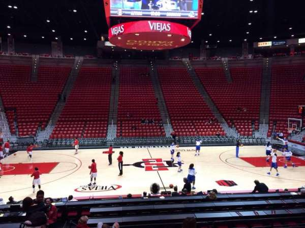 Viejas Arena, section: R, row: 13, seat: 12