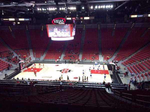 Viejas Arena, section: S, row: 35, seat: 5