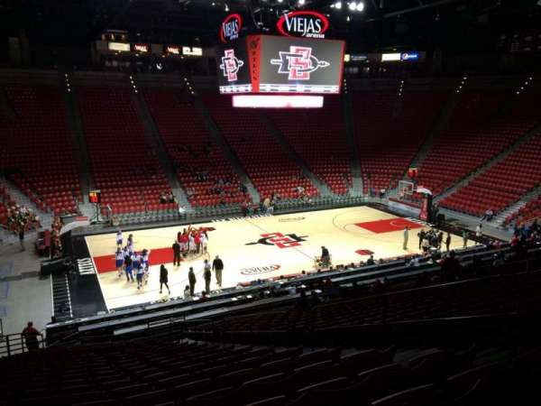 Viejas Arena, section: P, row: 25, seat: 6