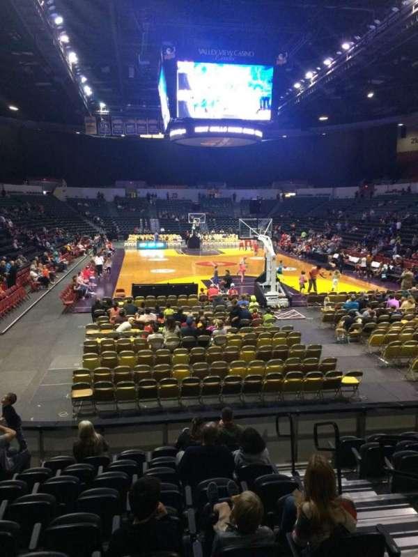Pechanga Arena, section: L8a, row: 1, seat: 3