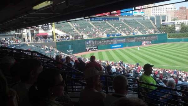 Progressive Field, section: 262, row: D, seat: 13