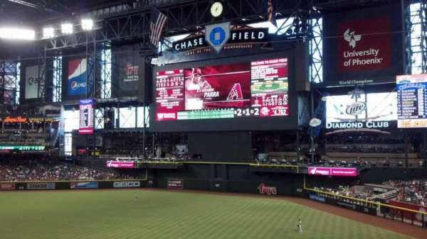 Chase Field, section: 204, row: 1, seat: 7