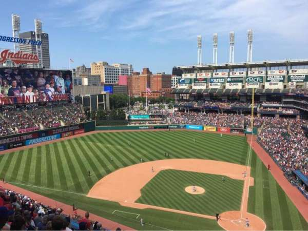Progressive Field, section: 558, row: G, seat: 7