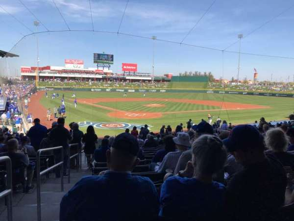 Sloan Park, section: 112, row: 23, seat: 1