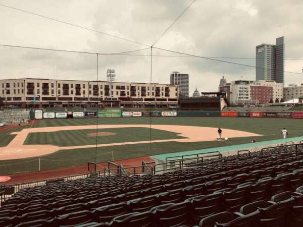 Parkview Field, section: 105, row: V, seat: 1