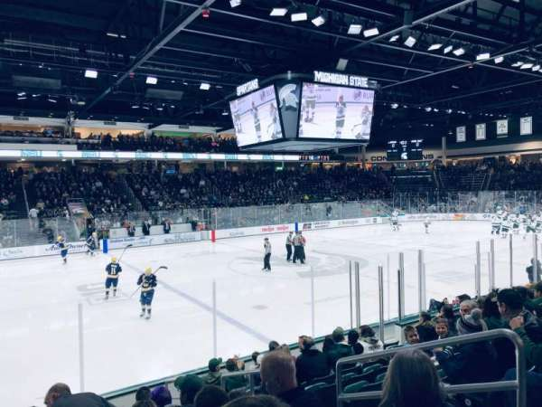 Munn Ice Arena, section: W, row: 11, seat: 4