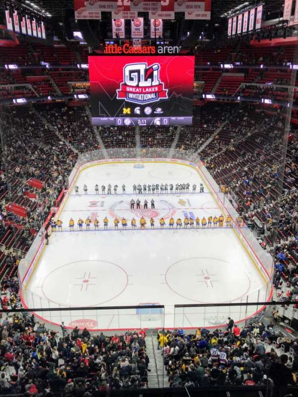 Little Caesars Arena, section: 219, row: 2, seat: 12