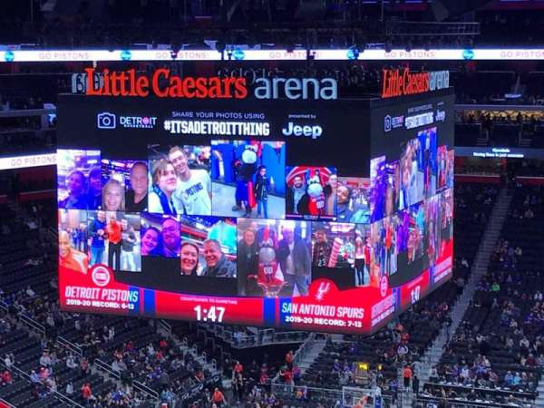 Little Caesars Arena, section: 217, row: 2, seat: 12