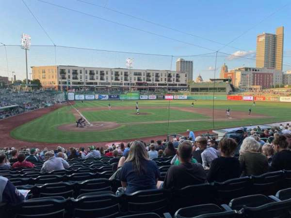 Parkview Field, section: 106, row: X, seat: 9