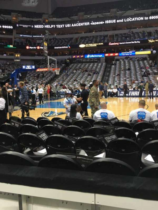 American Airlines Center, section: 108, row: A, seat: 10