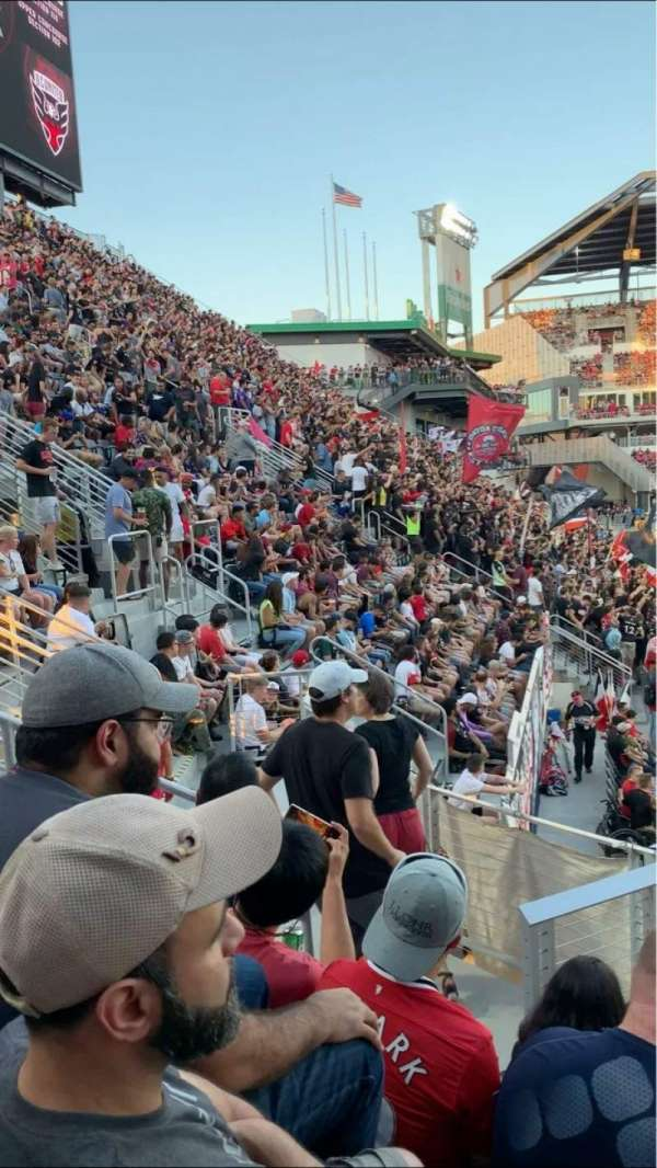 Audi Field, section: 132, row: 7, seat: 5