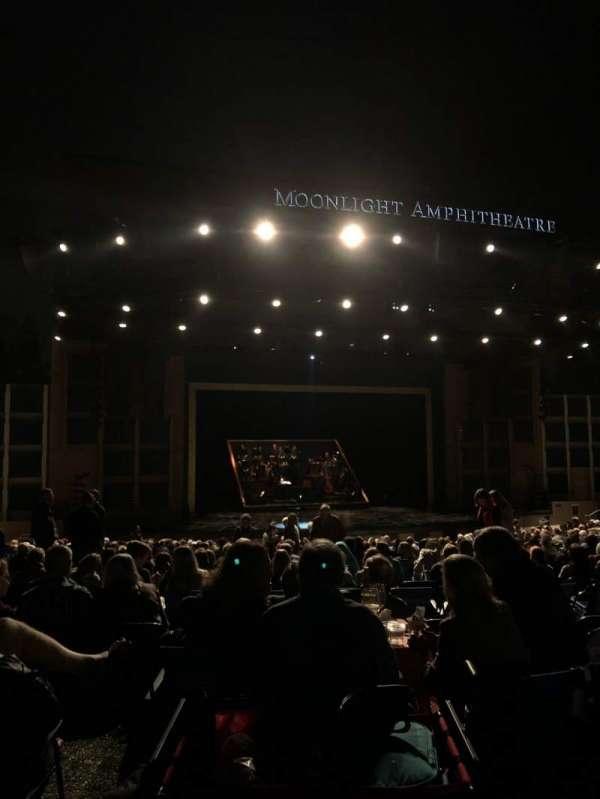 Moonlight Amphitheatre, section: Mezzanine, row: A, seat: 1