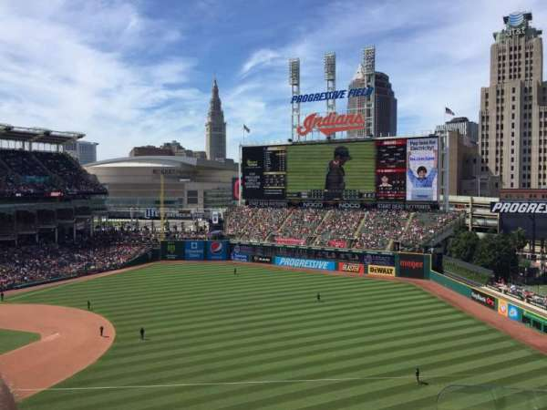 Progressive Field, section: 428, row: C, seat: 1
