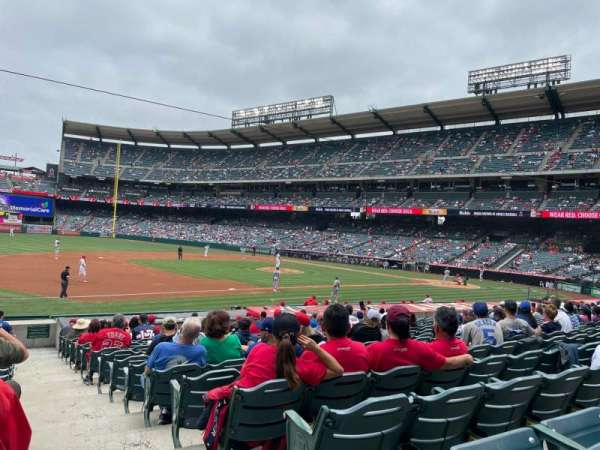 Angel Stadium, section: 109, row: U, seat: 18