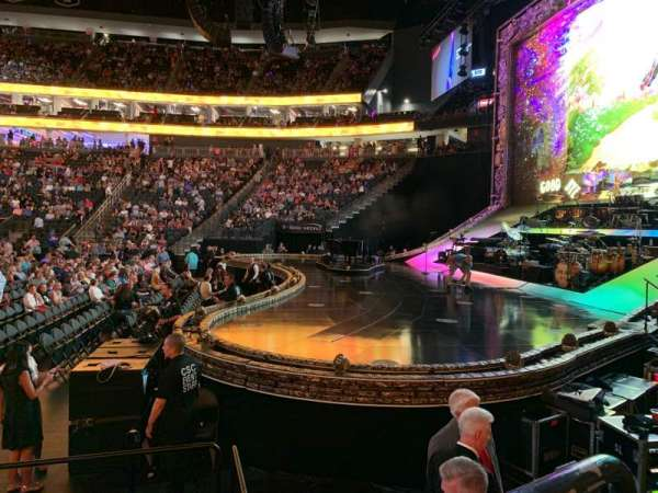 T-Mobile Arena, section: 18, row: C, seat: 4