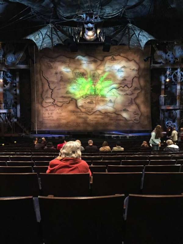 Gershwin Theatre, section: Orchestra C, row: O, seat: 109