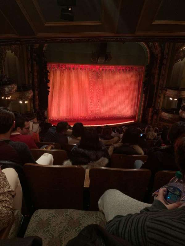 New Amsterdam Theatre, section: Mezzanine L, row: MM, seat: 7