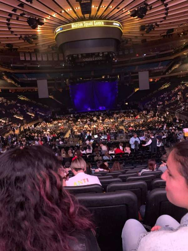 Madison Square Garden, section: 102, row: 15, seat: 11