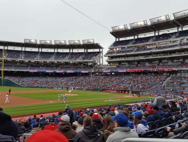 Nationals Park, section: 113, row: X, seat: 2