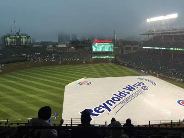 Wrigley Field, section: 410L, row: 1, seat: 3