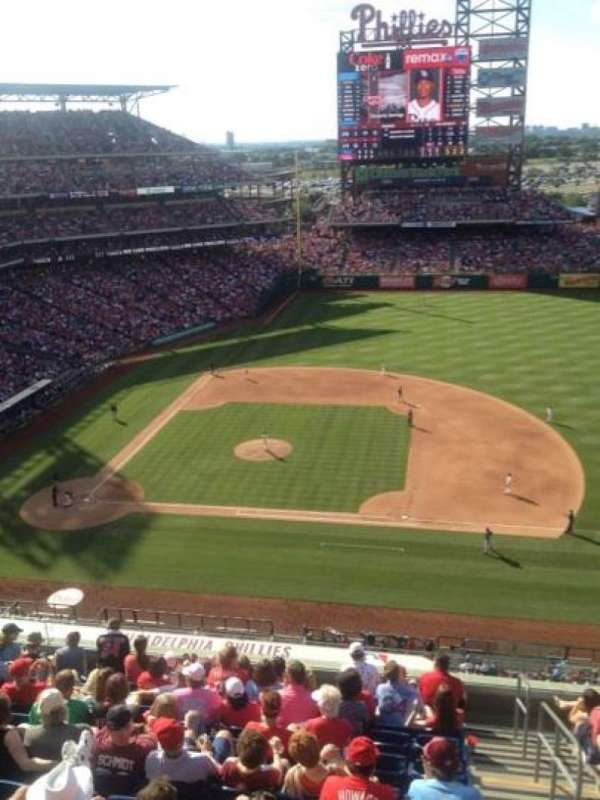 Citizens Bank Park, section: 415, row: 1, seat: 1