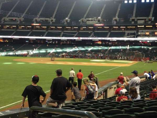 Chase Field, section: 136, row: 15, seat: 1