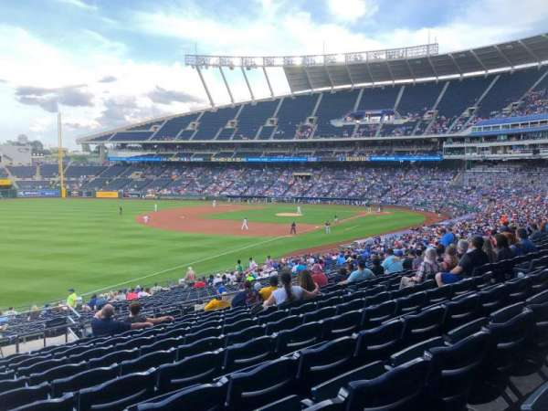 Kauffman Stadium, section: 211, row: LL, seat: 1