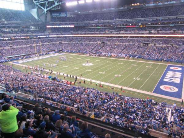 Lucas Oil Stadium, section: 408, row: 8, seat: 13
