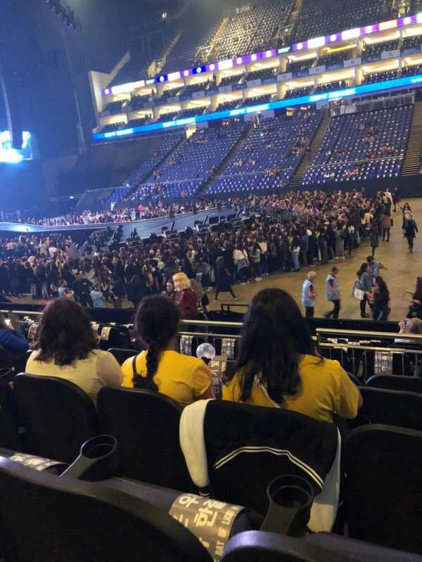 The O2 Arena, section: 103, row: M, seat: 95