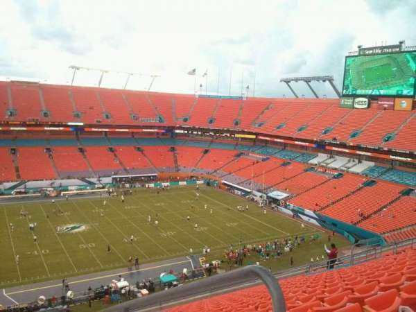 Hard Rock Stadium, section: 416, row: 20, seat: q