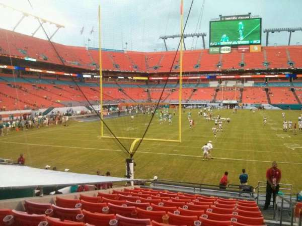 Hard Rock Stadium, section: 128, row: 14, seat: 1