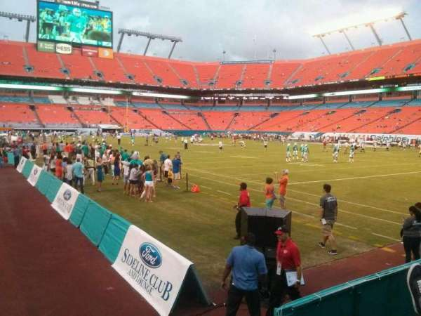 Hard Rock Stadium, section: 134, row: 1, seat: 1