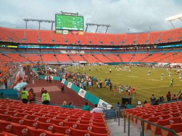 Hard Rock Stadium, section: 134, row: 14, seat: 1