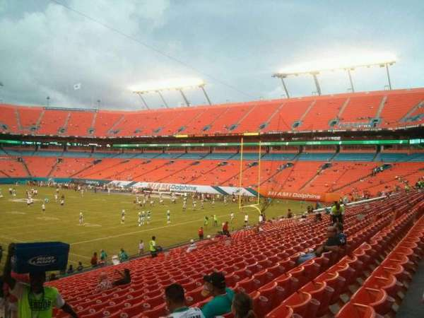 Hard Rock Stadium, section: 134, row: 24, seat: 1